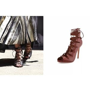 Free People Slate Lace Up Heels by SCHUTZ